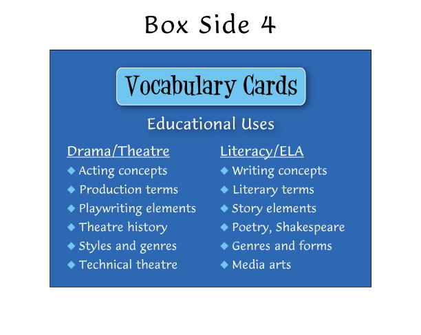 Drama Works!Vocabulary Cards | Drama Education Network